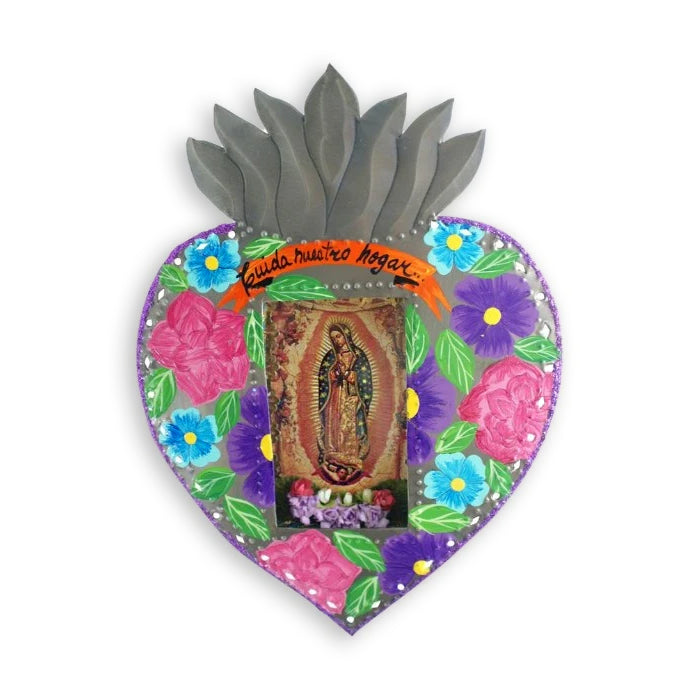 Tin Work Our Lady of Guadalupe Heart Niche