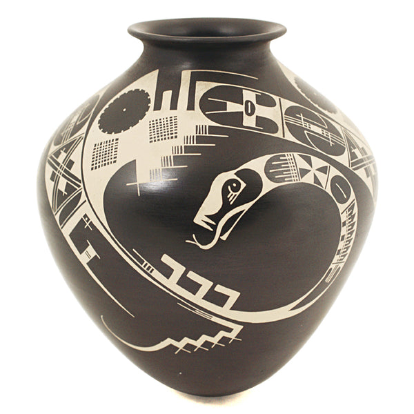 Carlos Carrillo: Black Quetzalcoatl Olla