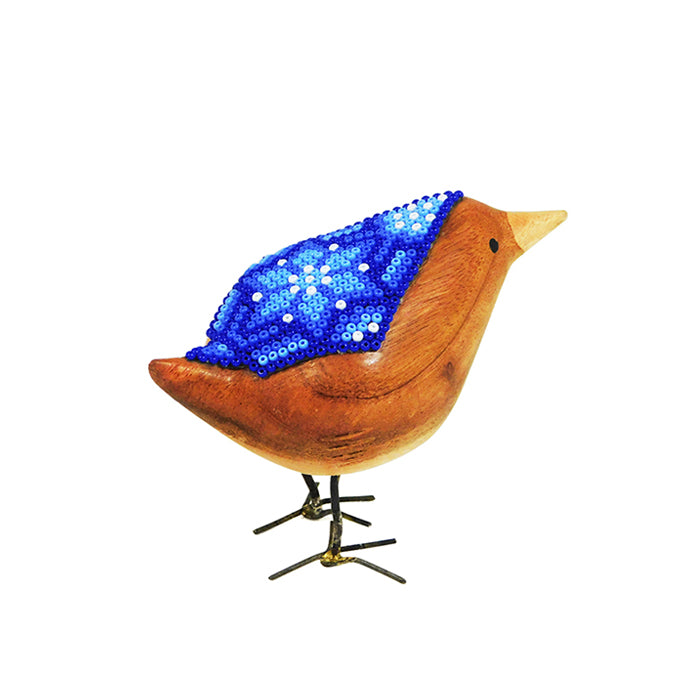 Huichol Little Saphire Beaded Bird