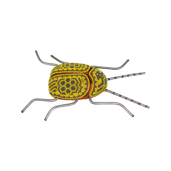 Huichol Yellow Sun Wood Beetle