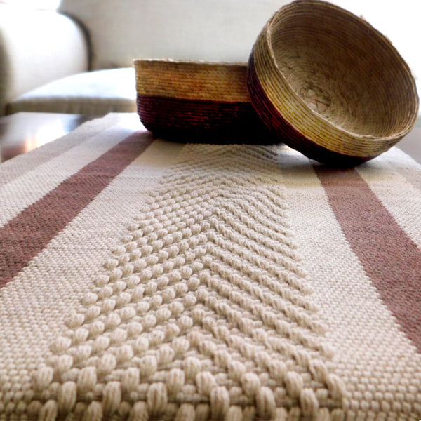 Beautiful Table or Bed Runner Brown Cream  Jalieza