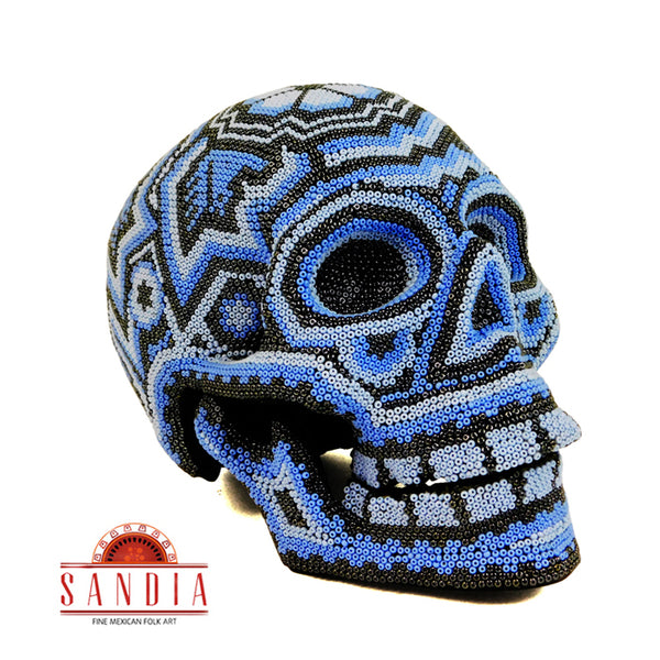 Day of the Dead Huichol Skull