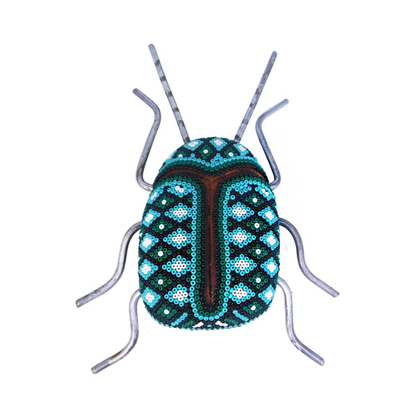 Huichol: Blue-Emerald Beetle