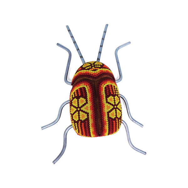 Huichol: Beetle Orange