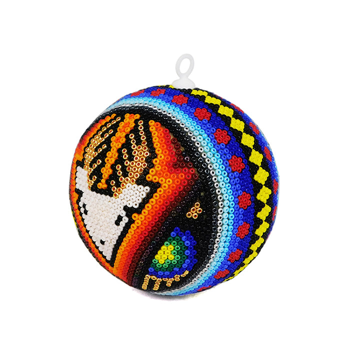 Huichol: Christmas Deer Sphere