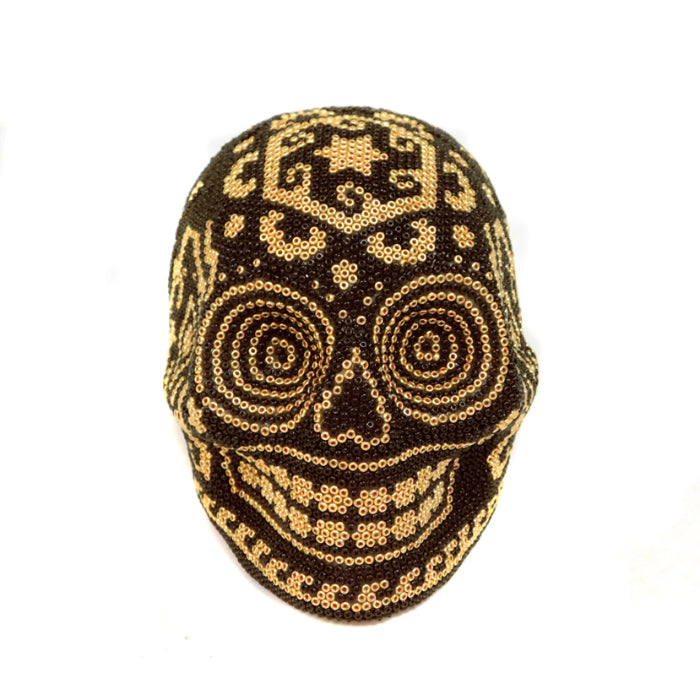 Huichol: Contemporary Love Day of the Dead Skull
