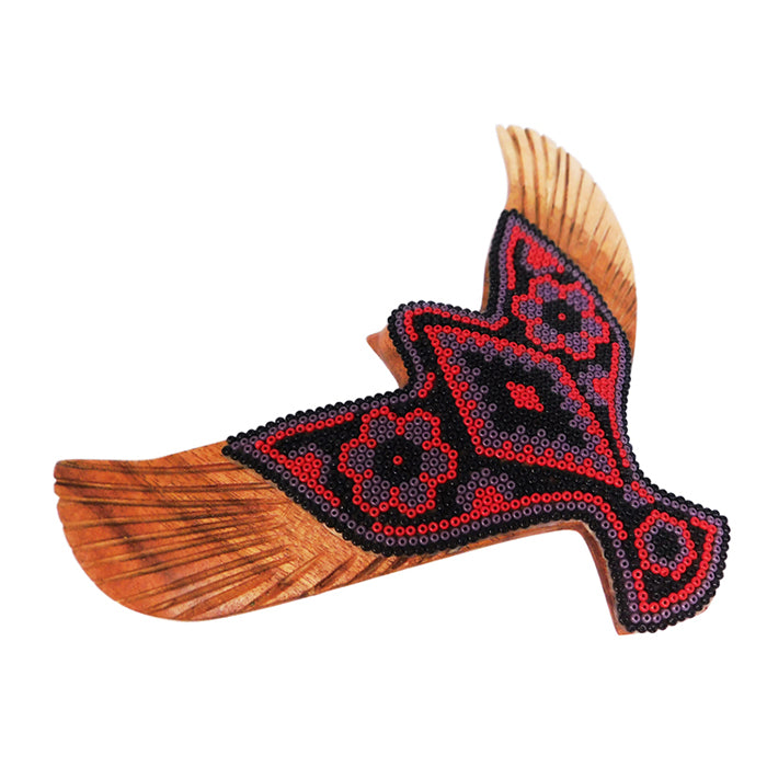 Huichol: Red Flying Dove