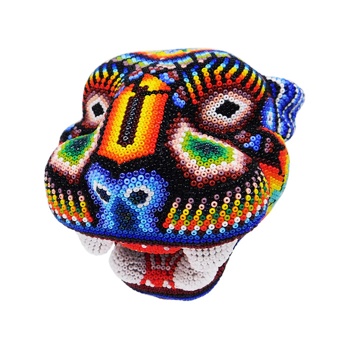 Huichol: Wall Hanging Jaguar Mask