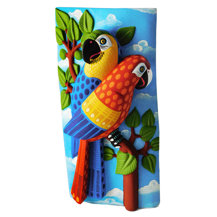 Luis Pablo: Unique Parrots Wallhanging