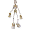 Milagros: Articulated White Wood  Skeleton