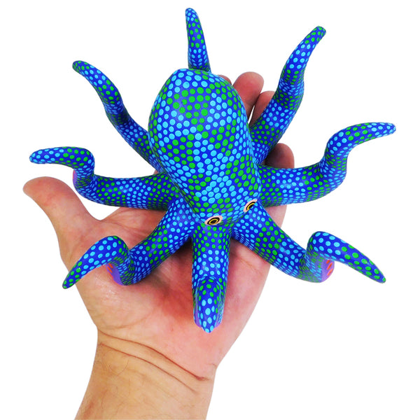 Saul Aragon: Ocean Blue Octopus Medium Size