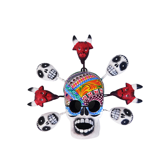 Saul Montesinos: Wall Hanging Skull