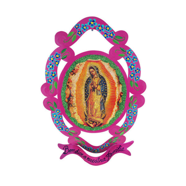 Tin Work Virgen de Guadalupe Garland
