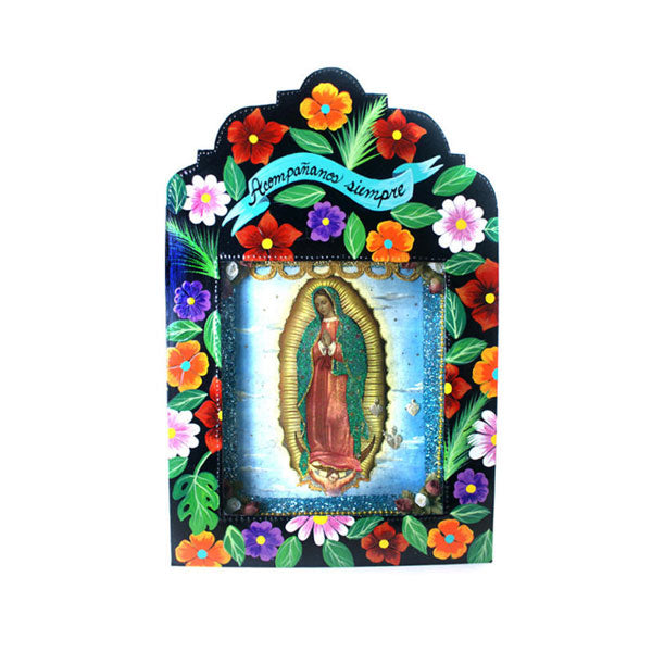Tin Work Virgen de Guadalupe Niche