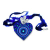 Jacobo Angeles Milagros de Sabina: Blue Heart Necklace