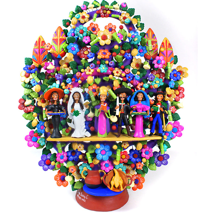 Oscar Soteno Elias: Large Day of the Dead  Arbol de la Vida