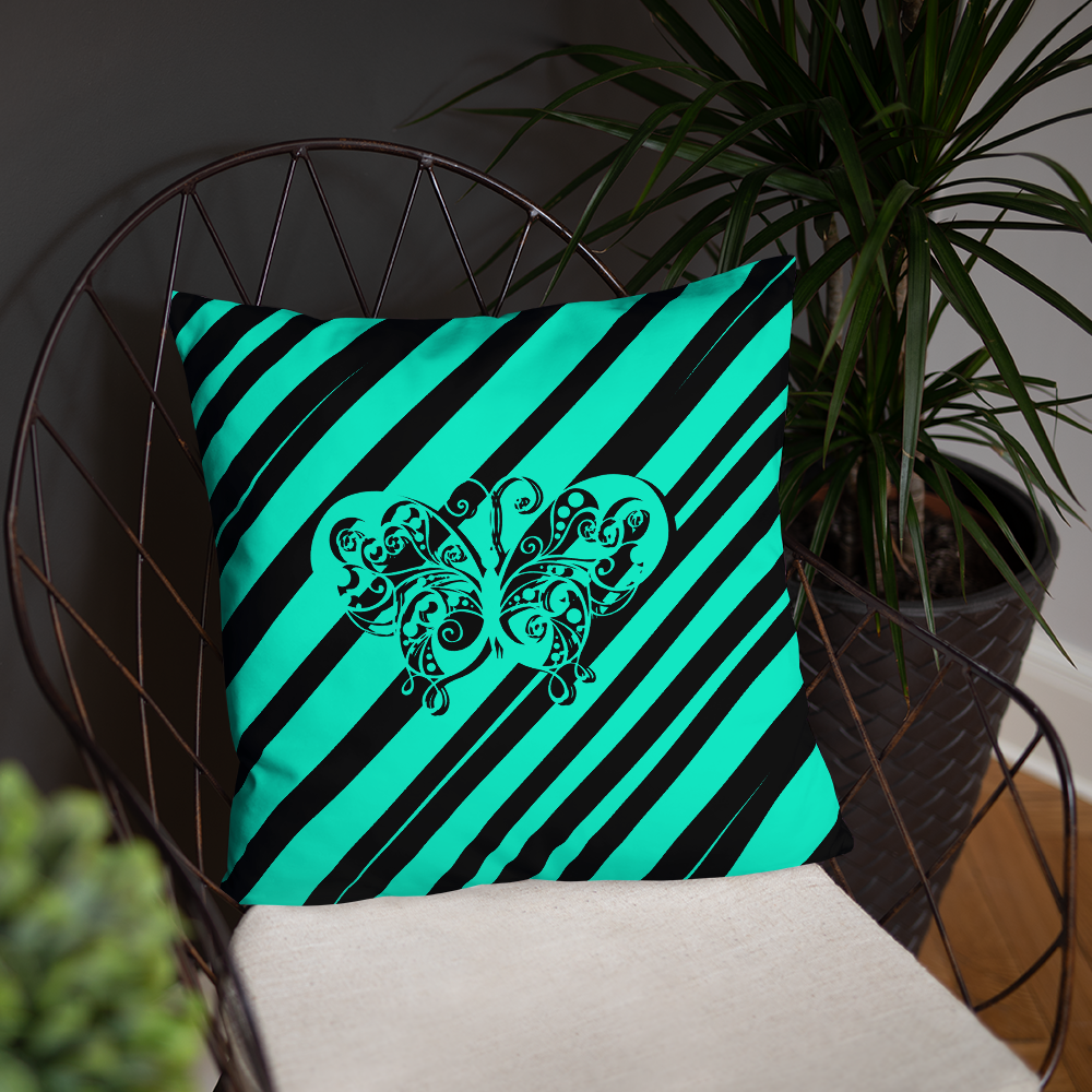 Striped Butterfly Pillow