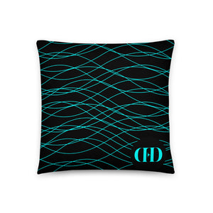 Cyan Waves Pillow