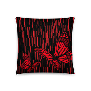Ruby Red Bttrfl Pillow