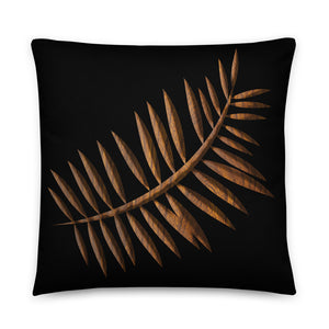 Wooden Leaf Pillow
