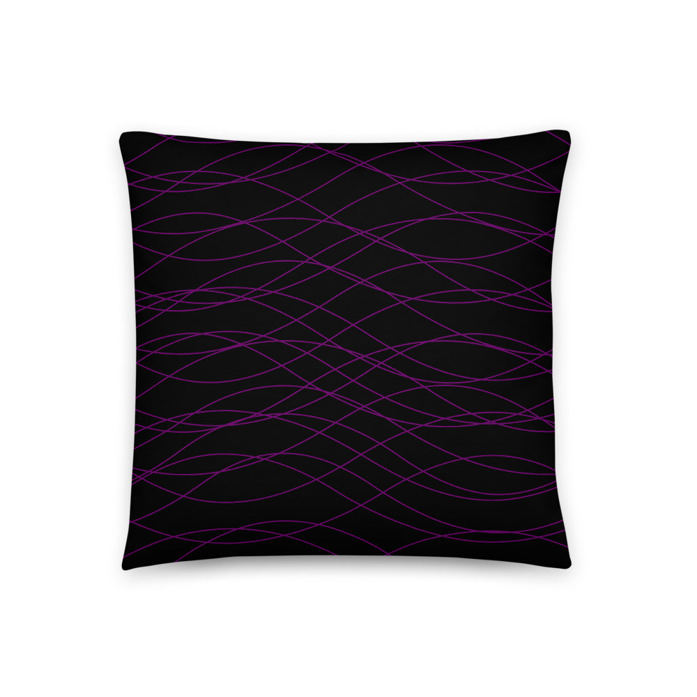Purple Waves Pillow