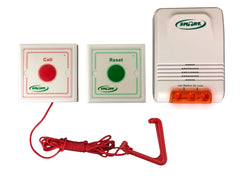 EMERGENCY CALL BUTTON WITH PULL CORD, RESET BUTTON AND LIGHT ALERT