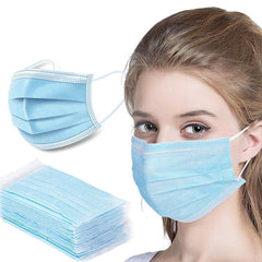 Disposable Face Mask, 50 PCS with Ear Loops, Cup Masks, Breathable