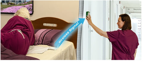 Cordfree Alarm with wireless bed and chair pads