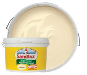 Sandtex Smooth Masonry 10 Litre Cornish Cream
