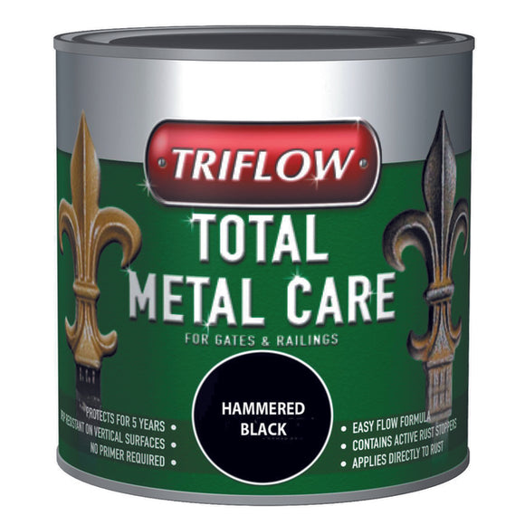Triflow Metal Care For Gates & Railings 250ml Black Hammered