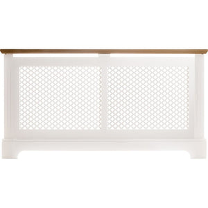 Tema Georgian Rad Cab 2 Tone White & Oak Large