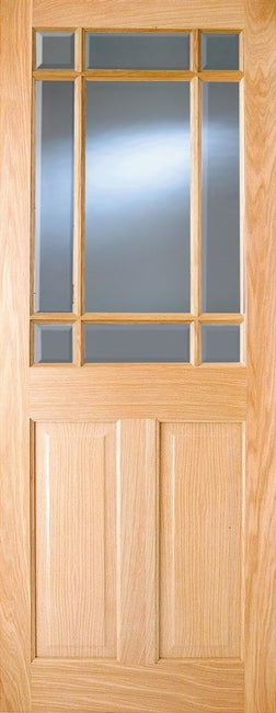Indoors Addison Austen Pf Oak 2P 9-Lite Glazed Door 78X30