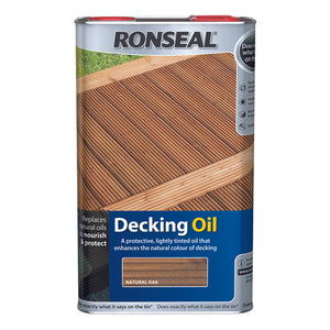 Ronseal Decking Oil 5L Natural Oak