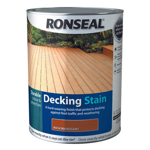 Ronseal Decking Stain 5L Rich Mahogany