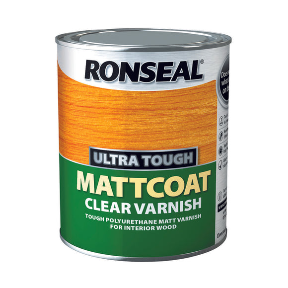 Ronseal Ultra Tough Varnish 750ml Matt Coat