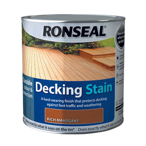 Ronseal Decking Stain 2.5L Rich Mahogany