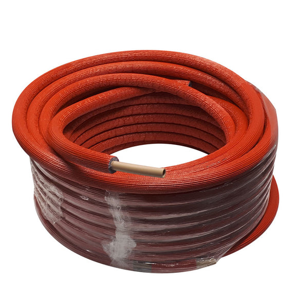 Q-PEX Plus+ EasyLay 50m x 3/4 Insulated Coil Red