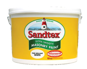 Sandtex Brilliant White 10 Litre Masonry Paint