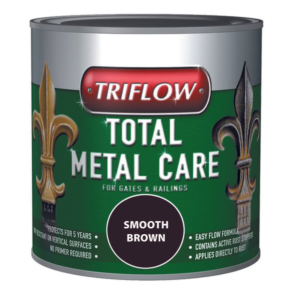 Triflow Metal Care For Gates & Railings 1L Brown Smooth