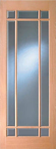 Indoors Merville Oak Bevel Glazed Door Pre-Fin 80X32