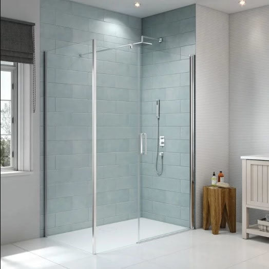 Merlyn 8 Series Frameless Pivot & Inline Panel - Sizes from 1000 - 1500