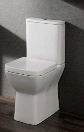 Brooklyn Closed Coupled Comfort Height Toilet - Rimless design