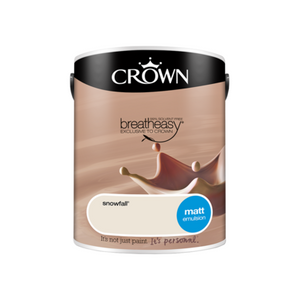 Crown Interior Matt Emulsion Paint Snowfall