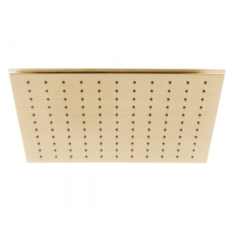 Individual Square Shower Head Brushed Gold 300mm