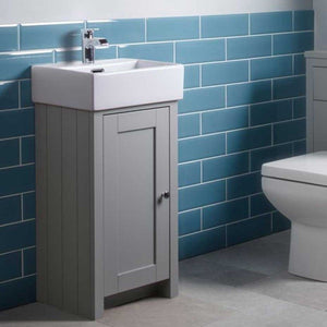 Lansdown 400mm Cloakroom Unit & Basin, Special Offer Inc Tap