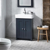 Lansdown 550mm Vanity Unit & Basin Dark Grey