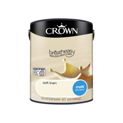 Crown Matt Emulsion Paint Soft Linen