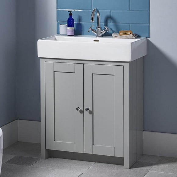 Lansdown 700mm Vanity & Basin Pebble Grey