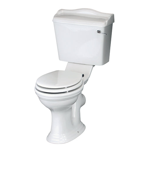 Adare Traditional Close Coupled Pan, Cistern & Soft Close Seat