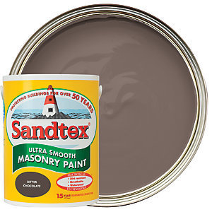 Sandtex Smooth Masonry 5 Litre Bitter Chocolate